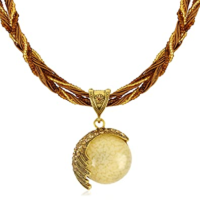 Signore-Signori Handmade CREAM HALF MOON Necklace Vintage Style Costume Jewellery Available  sc 1 st  Amazon UK : handmade costume jewelry  - Germanpascual.Com