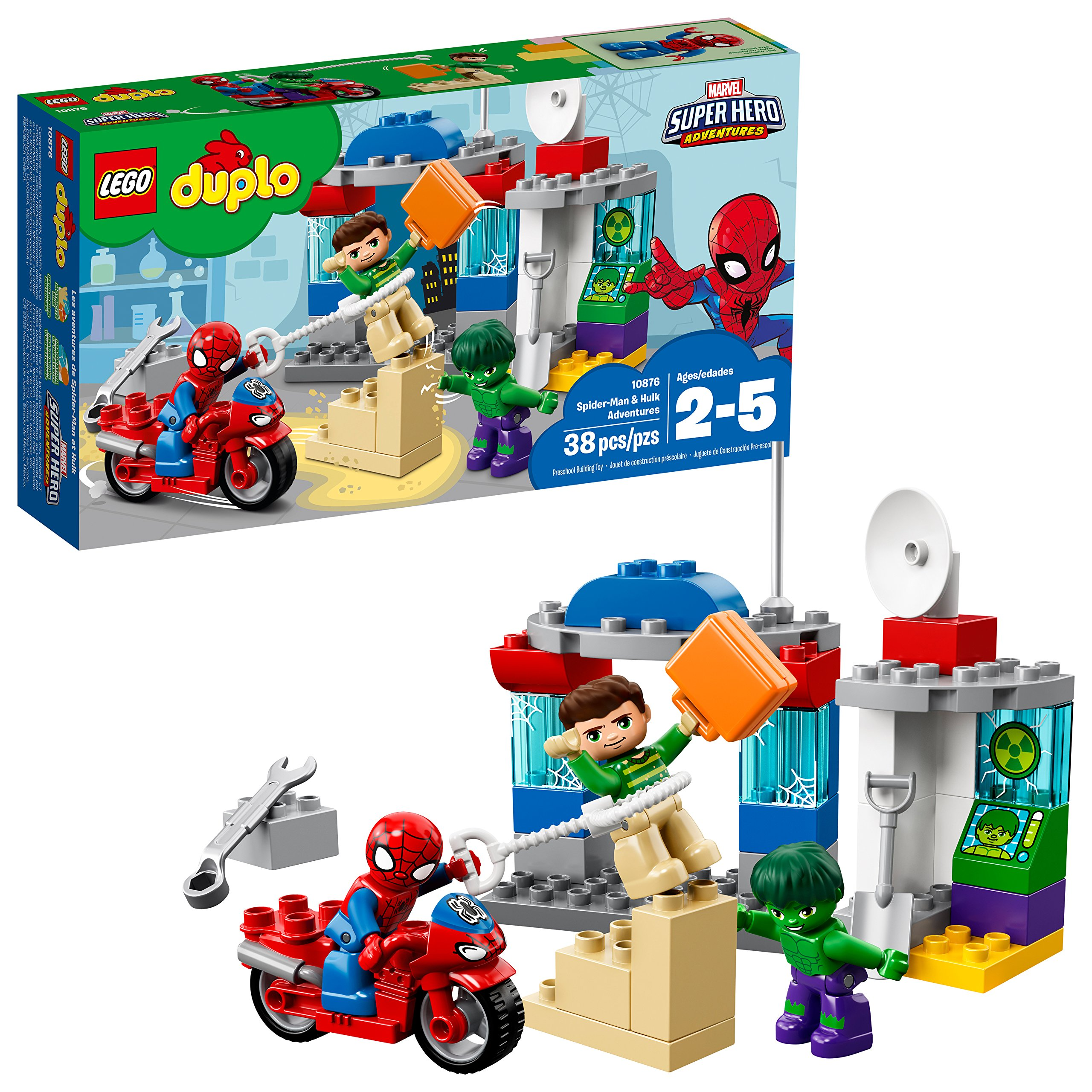 LEGO Duplo Marvel Spider-Man and Hulk Adventures 10876 Building Blocks (38 Pieces) by LEGO