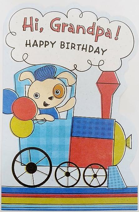 Amazon Hi Grandpa Happy Birthday Greeting Card From Child