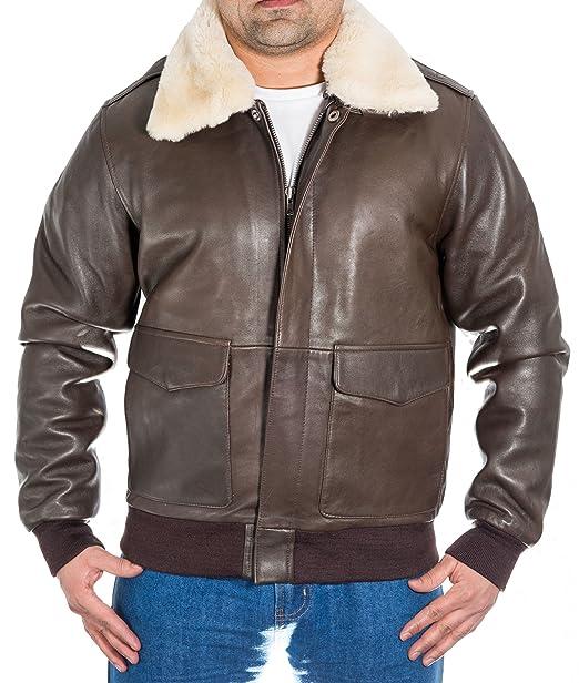 huge discount 6166d effaa Uomo marrone Bomber A-2 Pilota Aviatore giacca Di Pelle con ...