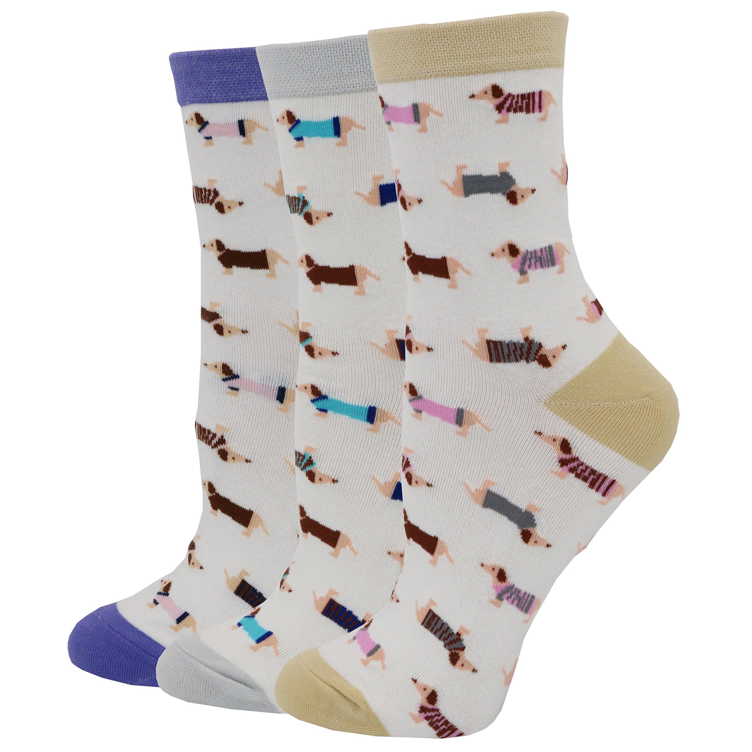 Pomlia Women's Haute Dachshund Socks Dog Socks (OneSize, D01)