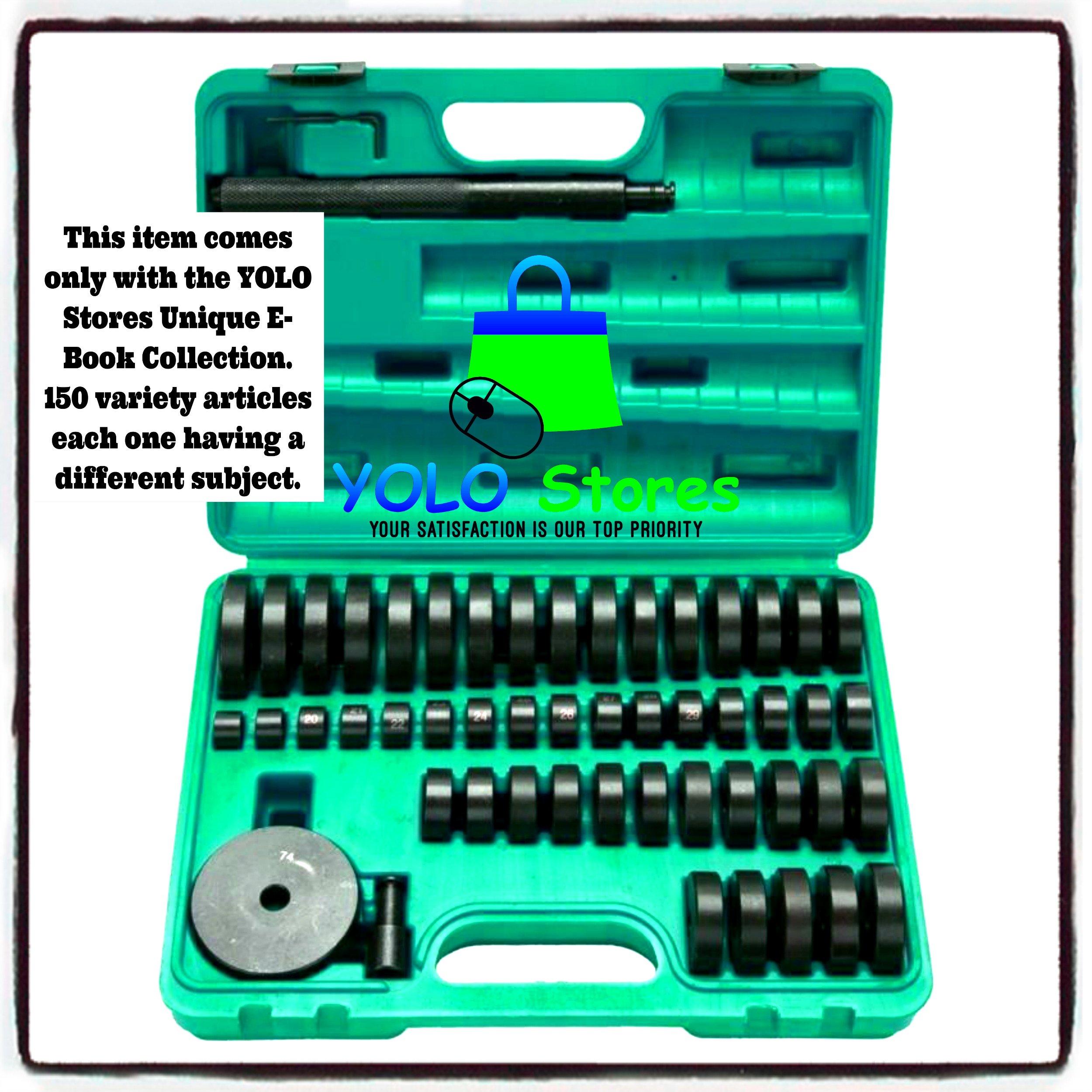 Bearing Seal Driver Set Tool 50pc Custom Bush, Bearing, Seal Driver Kit w/ Case By YOLO Stores