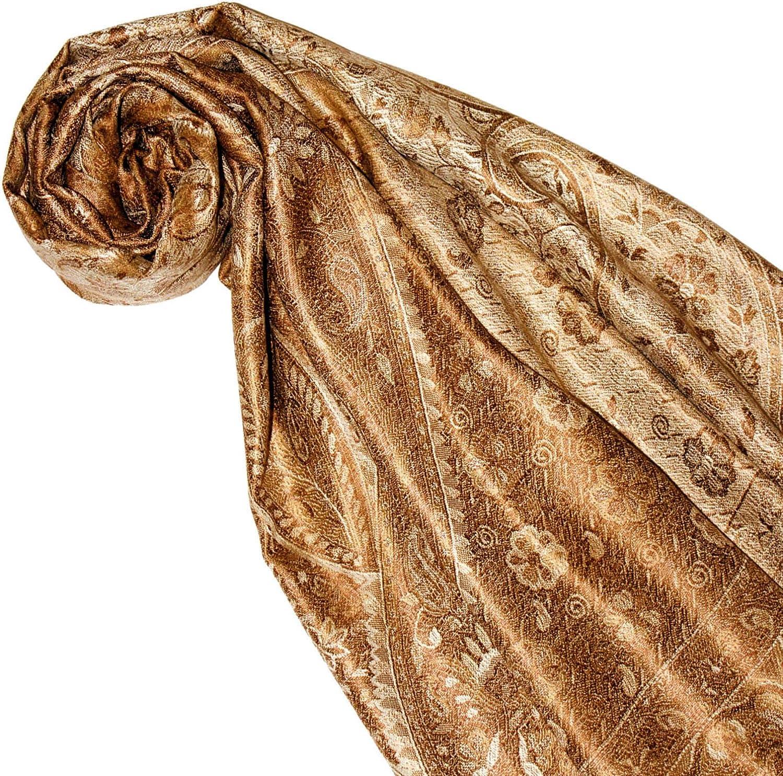Lorenzo Cana High-End Pashmina Scarf 100/% Silk 75 x 28 Shawl Jacquard Woven Soft And Supple