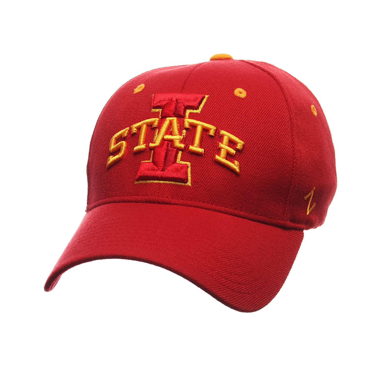 Zephyr Mens Iowa State Cyclones ZH ZWOOL Stretch FIT HAT