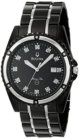 82417613e Image Unavailable. Image not available for. Color: Bulova Men's 98D107 Marine  Star Bracelet Mother of Pearl Dial Watch