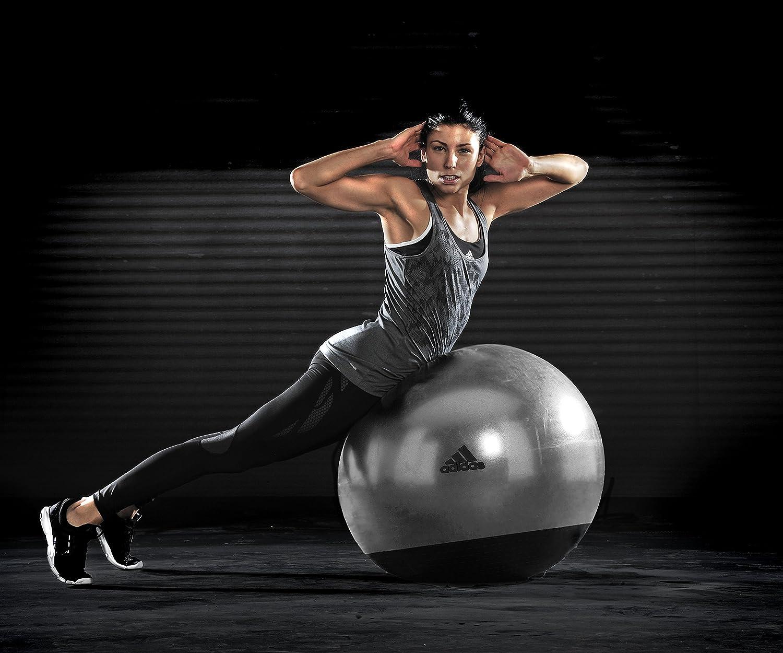 adidas Premium - Pelota para Fitness, Color Negro/Gris, 65 cm ...