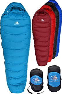 Hyke & Byke Snowmass 0 Degree F 650 Fill Power Hydrophobic Down Sleeping Bag with Allied