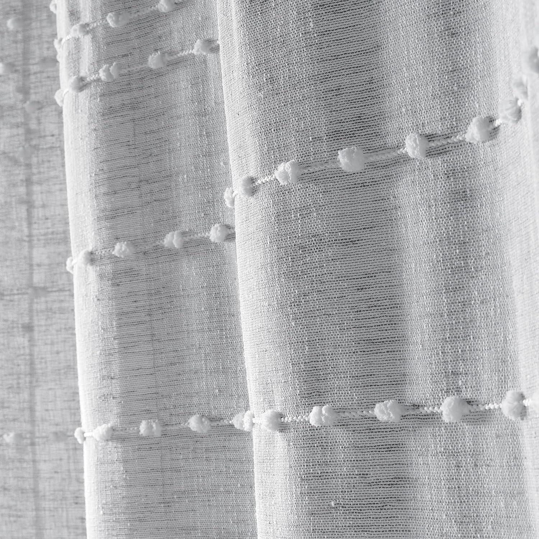 Polyester Anthracite 240x140 cm Douceur dInt/érieur ANDALIA Panneau /à /œillets