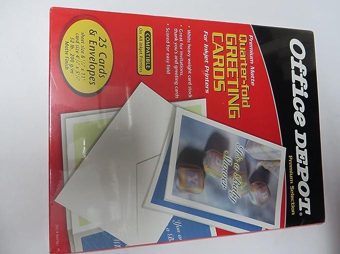 Amazon Com Office Depot Premium Matte Quarter Fold