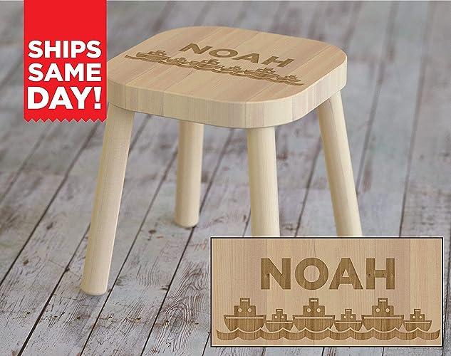 Strange Amazon Com Kids Step Stool Kids Gift Boats Nautical Creativecarmelina Interior Chair Design Creativecarmelinacom