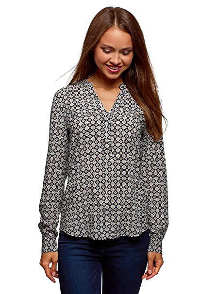 select for official superior materials outlet for sale oodji Collection Women's Printed Viscose Blouse