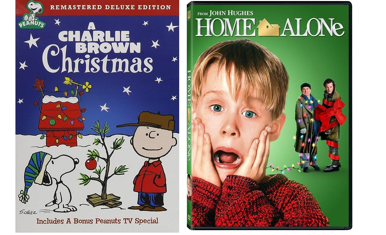Home Alone 1 & A Charlie Brown Christmas 2-DVD Christmas Bundle