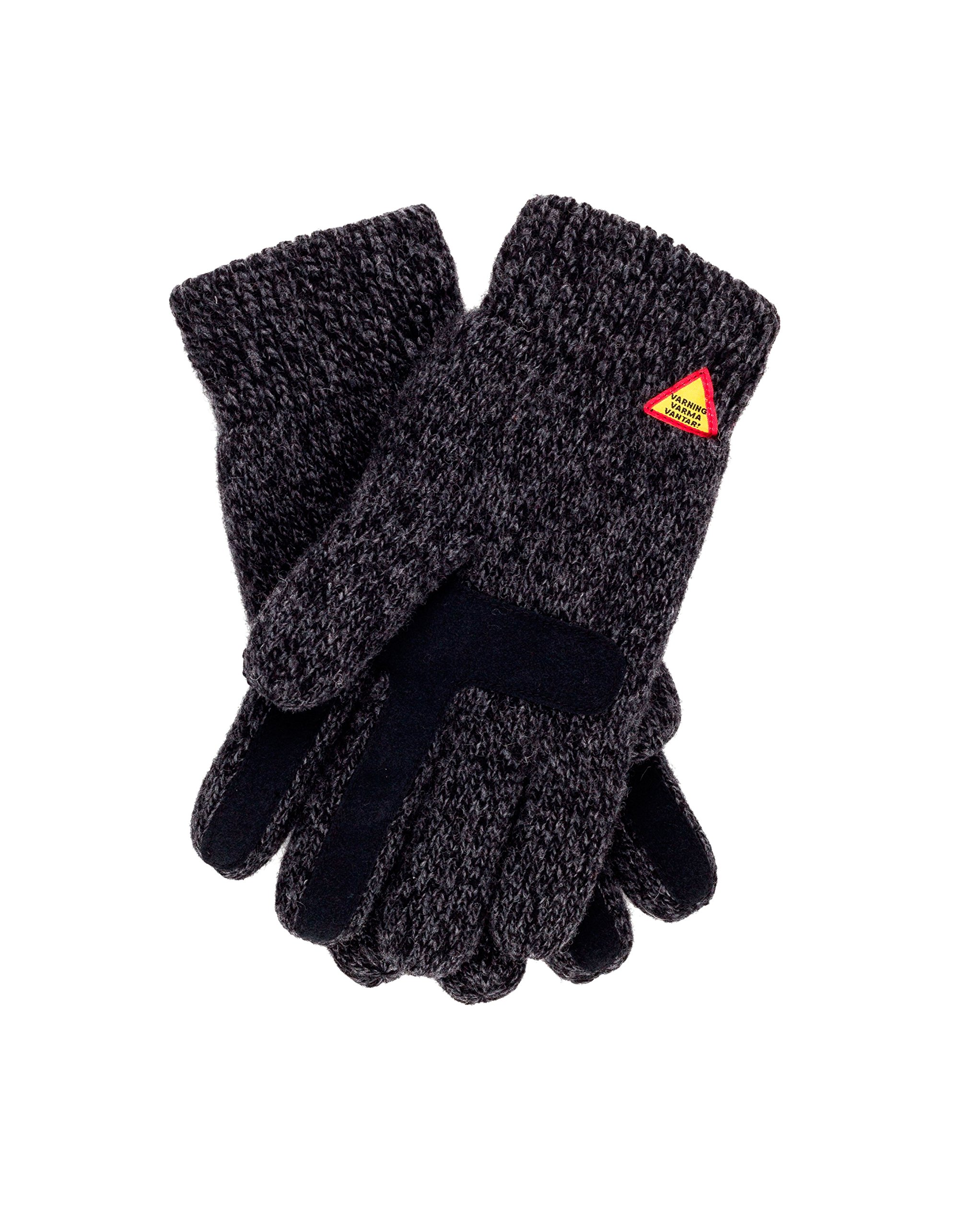 Öjbro Swedish made 100% Merino Wool Soft Thick & Extremely Warm Suede Touch Screen Gloves (as Featured by the Raynauds Assn) (Karg Rörö, Medium) by ÖJBRO VANTFABRIK