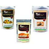 Online Quality Store Lemon Peel Powder, Mulethi Powder & Orange Peel Powder (150gm(50gm each))