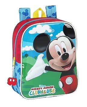 Mickey Mouse - Mochila guardería Adaptable a Carro (Safta 611539232): Amazon.es: Equipaje