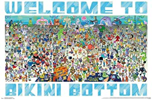 """Trends International Spongebob - Every Character Ever 19 Wall Poster 22.375"""" x 34"""" Multi"""