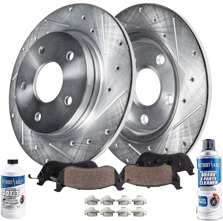 2000 01 02 03 04 2005 Saturn L Rear Rotors w//Ceramic Pads OE Brakes