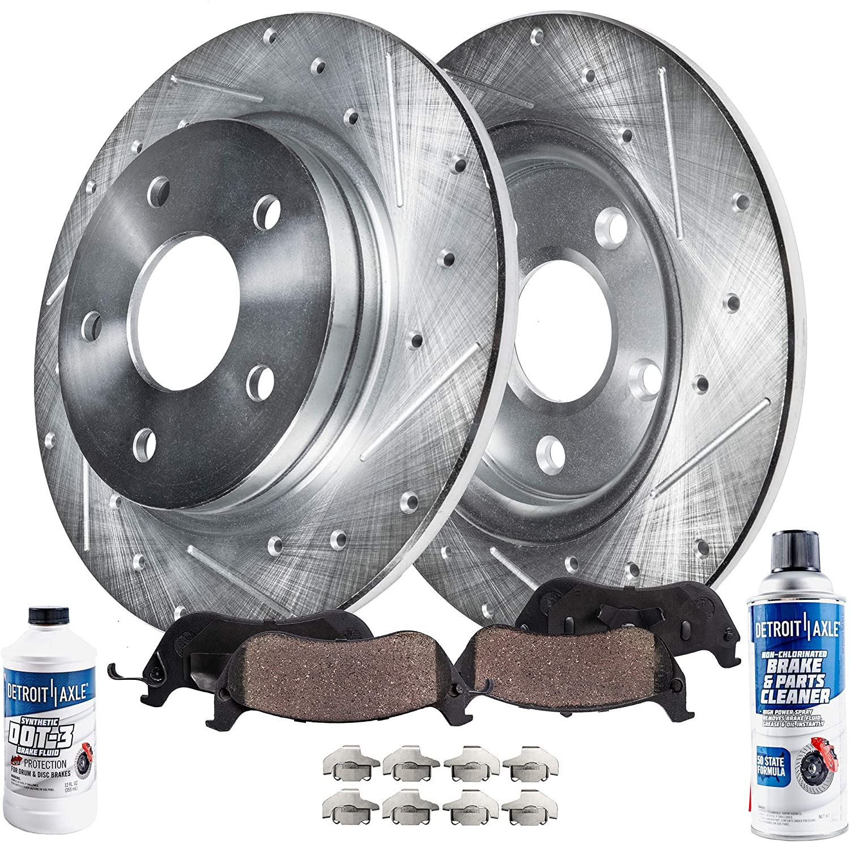Rear Drilled Slotted Brake Rotors /& Ceramic Pads For VW Volkswagen Tiguan