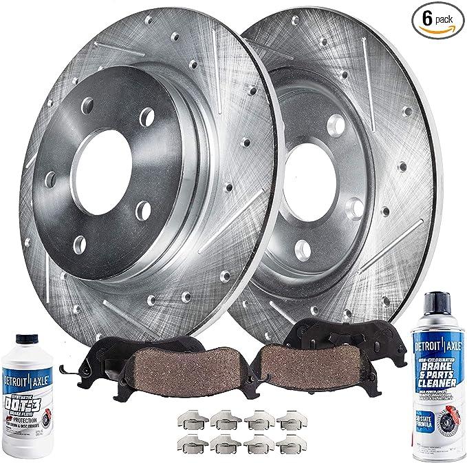 Rear Rotors w//Metallic Pad OE Brakes 2006-2013 Civic 2006-2011 CSX