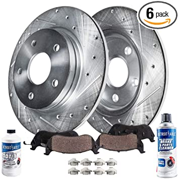 Front+Rear Drilled Rotors /& Ceramic Pads for 2009-2010 Ford Explorer Sport Trac