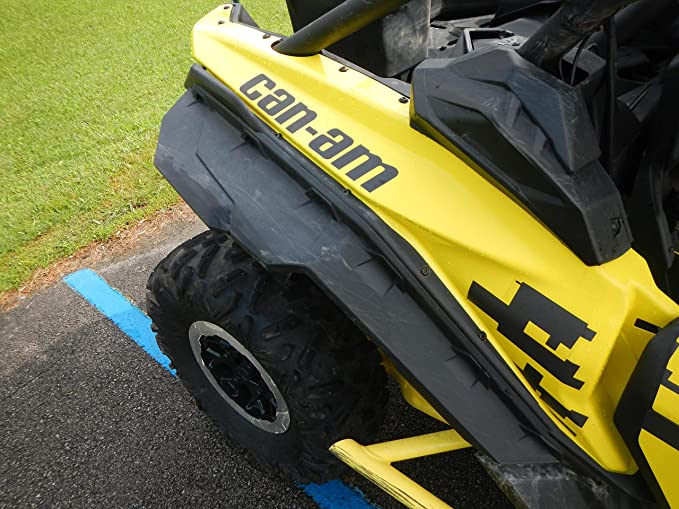 KIWI MASTER Fender Flares Extensions Compatible for Can Am Maverick X3 All Models Extended Mud Flaps Guards 715002973