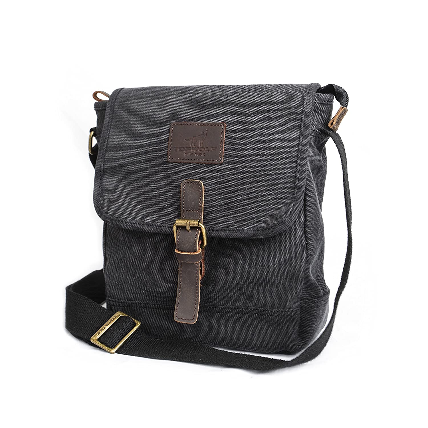 3f8facf52 Amazon.com | Canvas Messenger Bag TOPWOLF Small Crossbody Bag Casual Travel  Working Tools Bag Shoulder Bag Hold Phone Handset Anti Theft | Messenger  Bags