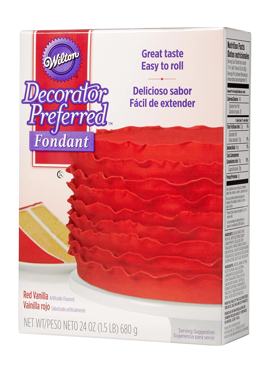 Amazon.com: Wilton Decorator Preferred Red Fondant, 24 oz. Fondant ...