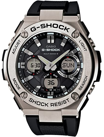 super popular 87717 a301a [カシオ] 腕時計 ジーショック G-STEEL 電波ソーラー GST-W110-1AJF ブラック