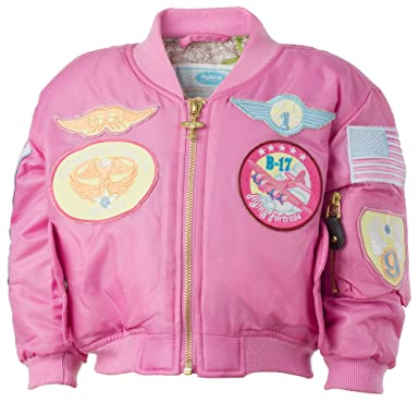 887e0dc3b Amazon.com: MA-1 Pink Pilot Jacket: Clothing