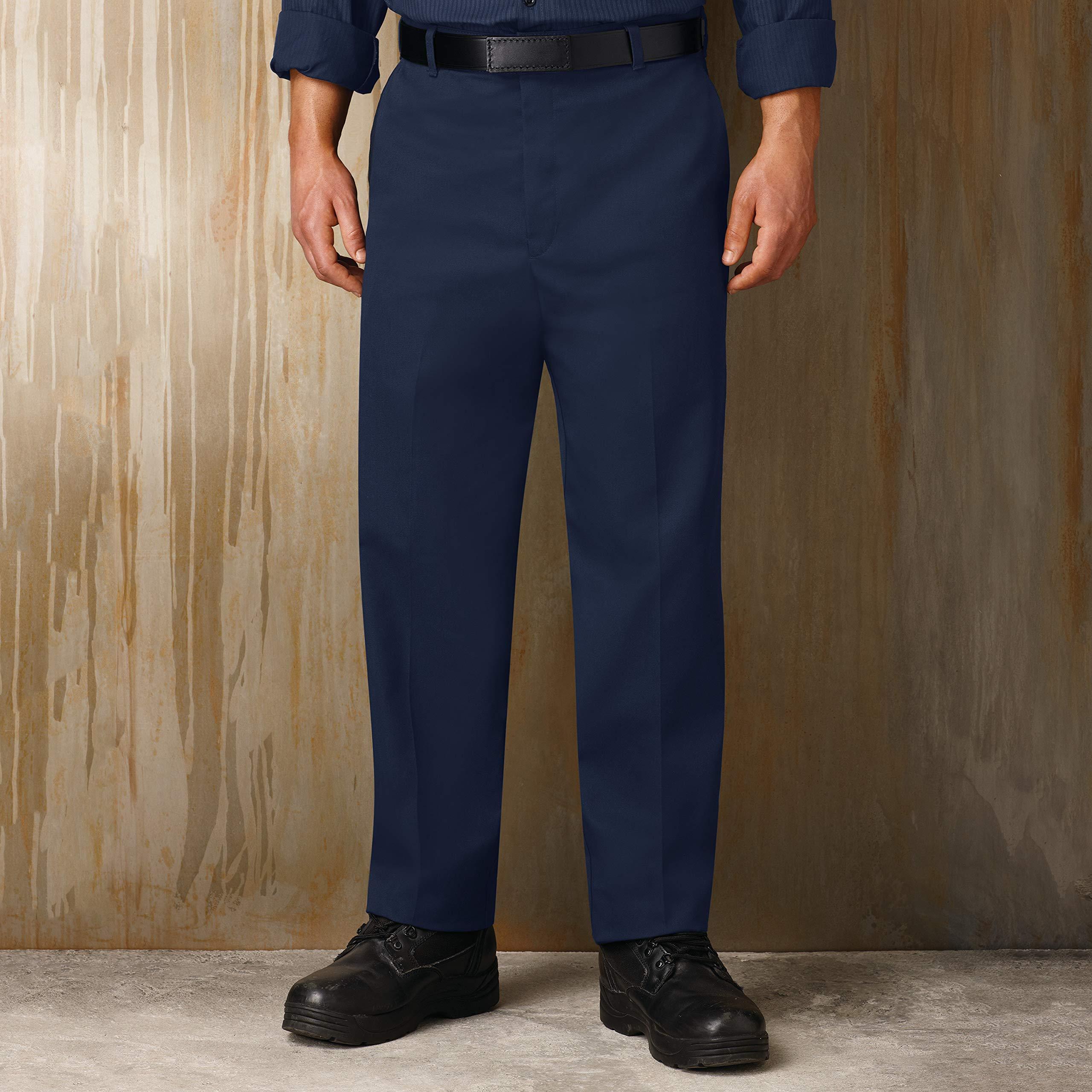 Red Kap Men's Stain Resistant Flat Front Work Pants