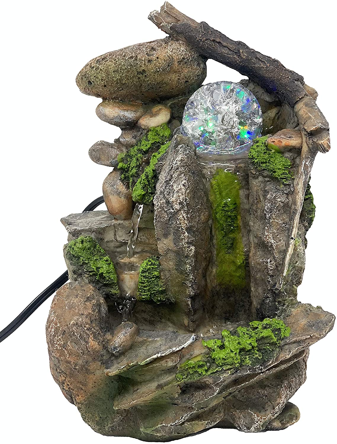 GiftsRDecor Tabletop Fountain Indoor Fountain Waterfall Nature's Garden