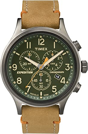1829f9470 Image Unavailable. Image not available for. Color: Timex Expedition  TW4B04400 Scout Chrono Men Watch, Tan/Green/Gunmetal