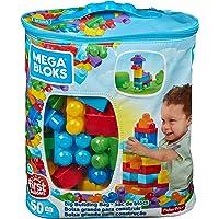 Mega Bloks Juego de construcción de 60 piezas, bolsa ecológica clásica, juguetes bebe 1 año (Mattel DCH55)
