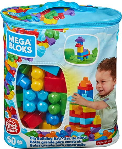 BleuBriques Bloks Sac De Et Pièces Jeu Mega Construction60 f76ygvbY