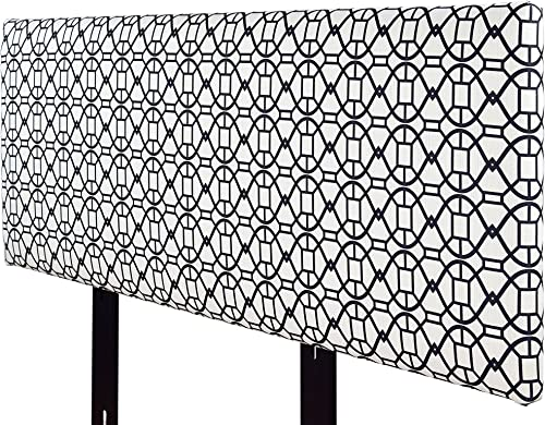 MJL Furniture Designs Alice Padded Bedroom Headboard Contemporary Styled Bedroom D cor, Noah Series Headboard, Windsor Finish, Queen Sized, USA Made