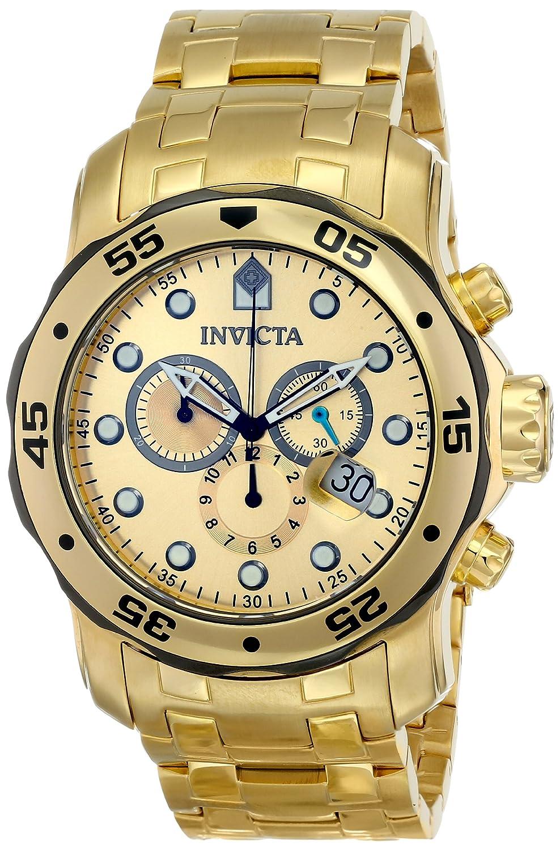 Invicta Men s 80070 Pro Diver Analog Display Swiss Quartz Gold Watch