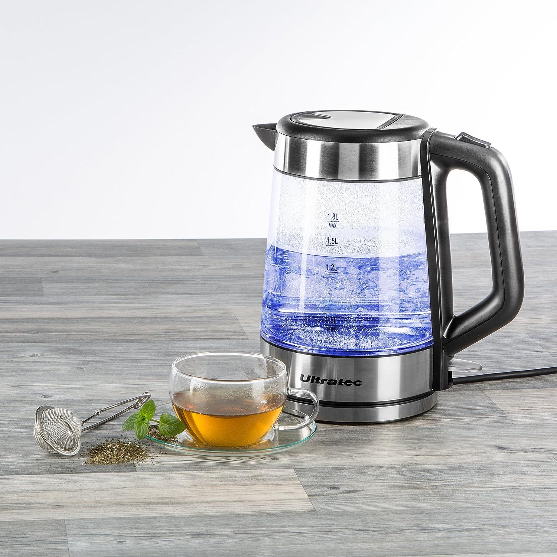 1,7 litros Hervidor de Agua de Acero Inoxidable//Cristal Ultratec-K/üche 331400000251 LED-2200 Vatios