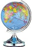 Illumini Benross 13-inch Globe Touch Lamp with Chrome Base