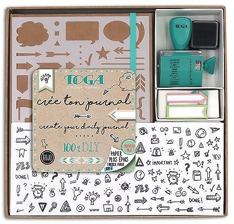 Toga kt74 Kit Bullet Journal Cuaderno Kraft 15,5 x 21,5 x 1,5 cm