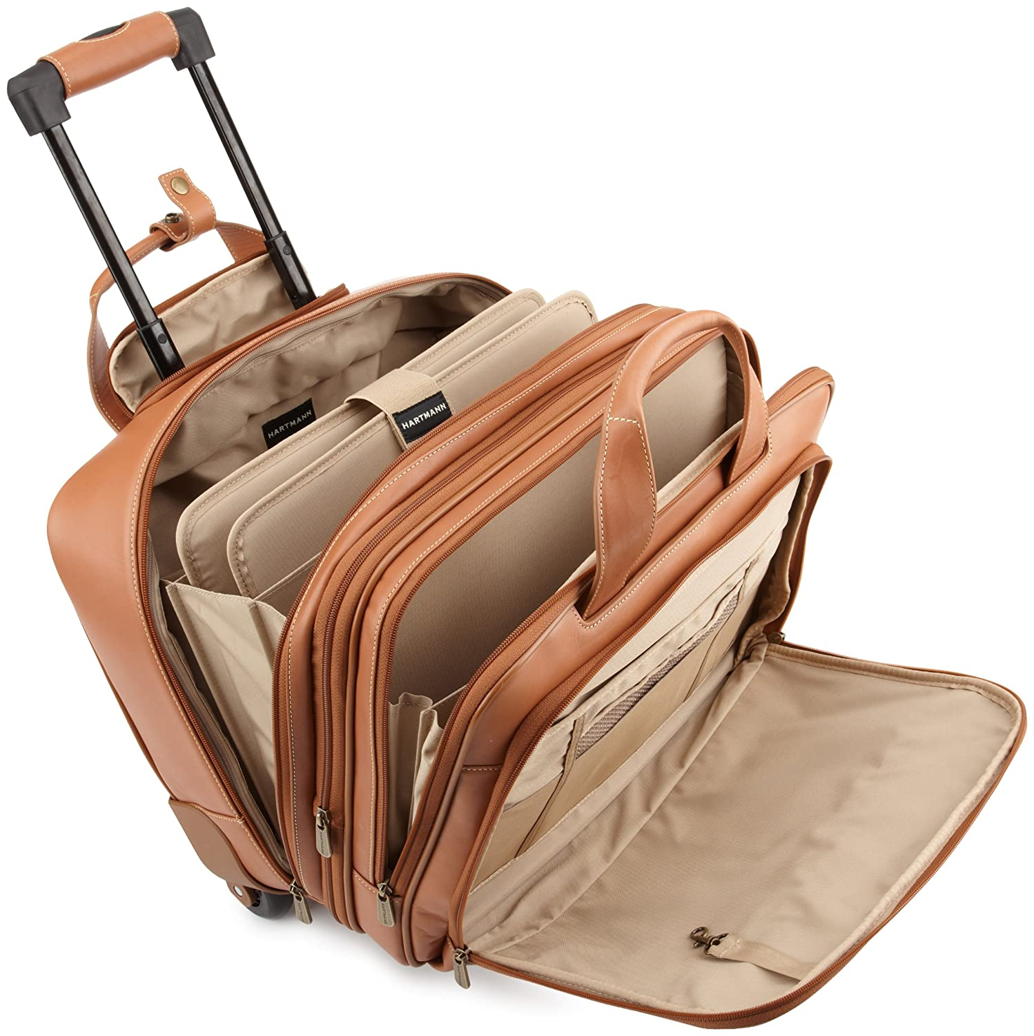2a0810264913 Hartmann Luggage Belting Leather Expandable Mobile Traveler  Office,Natural,One Size