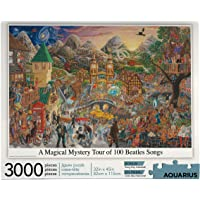 AQUARIUS 68504 A Magical Mystery Tour of 100 Beatles Songs Puzzle, 3000 Piece