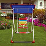 Kurtzy Steel Framed Swings With Roof Canopy Tent For Children