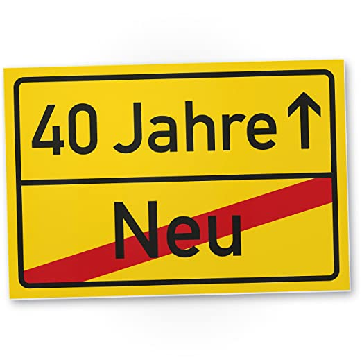 DankeDir!. 40 años plástico ortssschild - Letrero, Regalo 40 ...