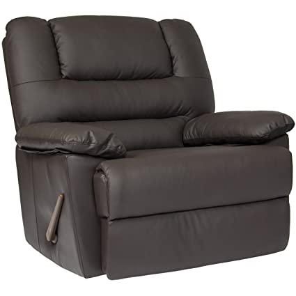 Beau Best Choice Products Deluxe Padded PU Leather Rocking Recliner Chair