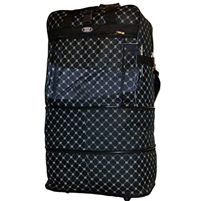 "36""designer Style Print Rolling Expandable Wheel Duffel Bag Unzips to 3 Sizes"