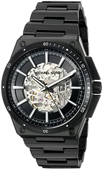 3a7e6c42cfe4c Buy Michael Kors Analog Black Dial Men s Watch - MK9023 Online at Low Prices  in India - Amazon.in