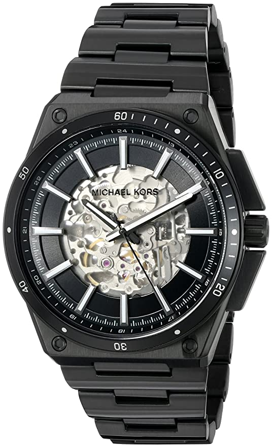 Amazon.com: Michael Kors Mens Wilder Black Watch MK9023: Michael Kors: Watches