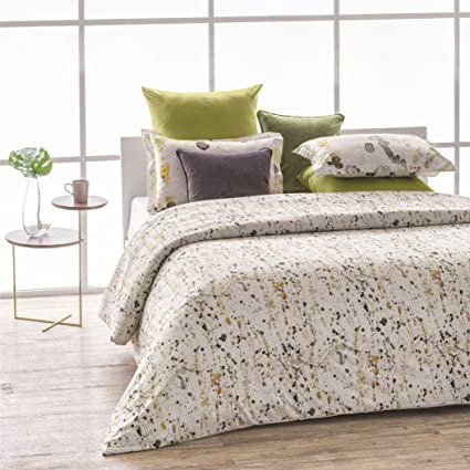 8a0734b5922df A1 Home Collections A1HC Citronelle Reversible Print 100% Organic Cotton  Duvet Cover and Sham Set