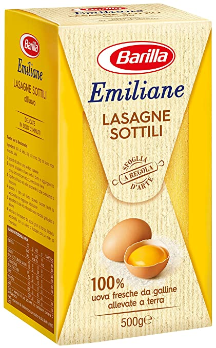 4 opinioni per Barilla- Lasagne all'Uovo Le Sottili- 3 confezioni da 500 g [1500 g]