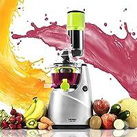 Cecotec Licuadora para frutas y verduras de prensado en frío, extractor de jugo con canal XL para fruta entera, 45 rpm, tapón antigoteo, BPA Free, Modelo nuevo. Cecojuicer Pro